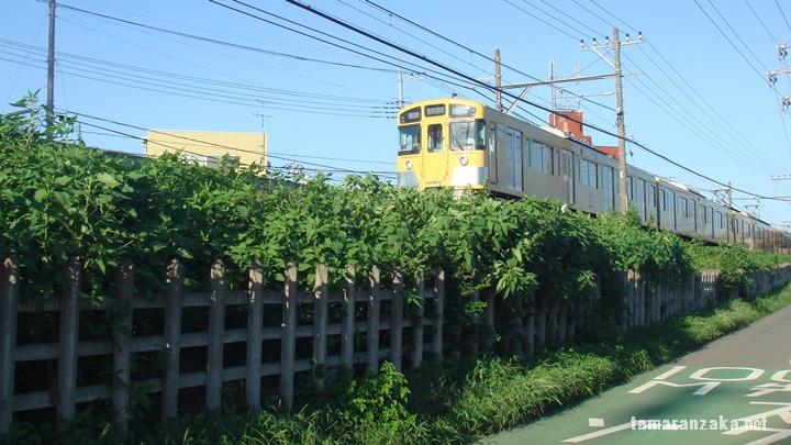 立川断層を行く西武拝島線